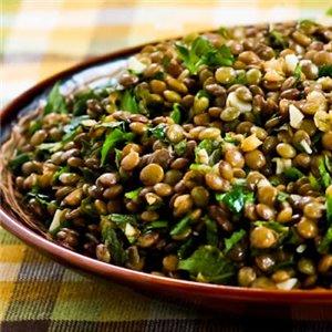 Рецепт чечевичного салата