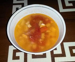 Рецепт куриного супа Впалая грудь