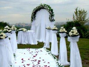 Оформление выездной свадебной церемонии