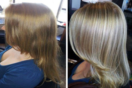 Брондирование на каре волос фото до и после